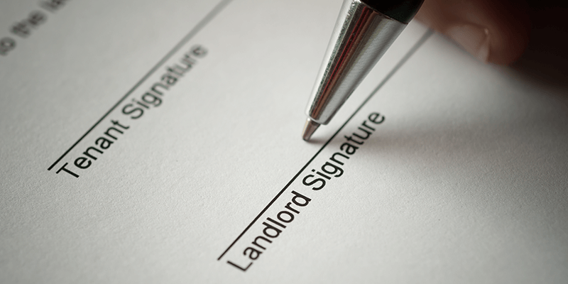 landlord signing sheet
