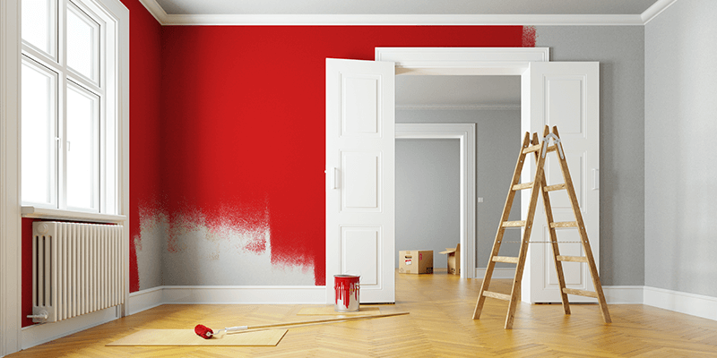 painting a room apartment